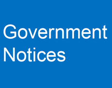 GOVERNMENT NOTICES